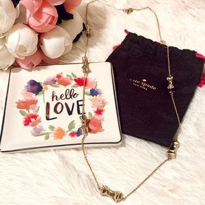 Kate Spade Take a Bow gold necklace